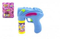 Pistole bublifuk s náplní plast 16cm na baterie - mix barev