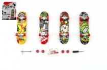 Skateboard prstový šroubovací plast 10cm s doplňky - mix variant či barev