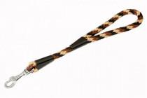 """Vodítko textil lano """"Spirála"""" černo/hnědé B&F 1,40 x 35 cm"""