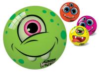 Míč Monster 23 cm s bláznivým obličejem - mix variant či barev