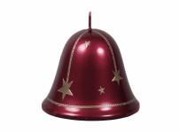Svíčka CHRISTMAS STARS ZVONEK vánoční metalická d8,5x8cm