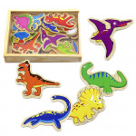 Magnetky dinosaurus dřevěný 20 ks
