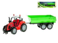 Traktor s vlečkou 34 cm na setrvačník - mix barev