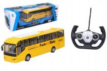 Autobus RC plast 28cm na dálkové ovládání + bateriový pack se světlem