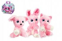 Zvířátko FUR BALLS Touláček pejsek/kočka/králík růžový plyš 10cm s doplňky
