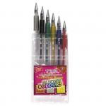 Glitter gelové pero - mix barev - 6ks/sada