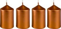 Svíčka adventní 40x60 mm - metalická bronz - 4 ks