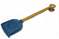 Hrábě se sítkem na písek plast 78cm