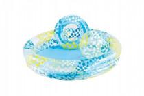 Sada dětský bazén 122x25cm+kruh+míč