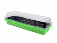 Minipařeniště MEDIUM 18 otvorů zelené 47x16x12cm