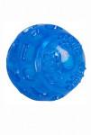 Hračka pes Míč 7,5cm TPR guma svítící