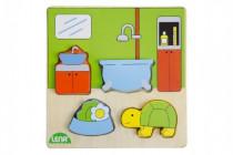 Vkládačka/Puzzle dřevěné koupelna 18m+