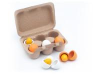 Plato vajíček - dřevěná montessori hračka