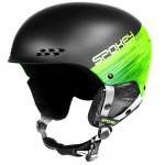 Spokey APEX lyžařská přilba černo-zelená, vel. S/M