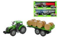 Traktor s vlečkou 1:32 42 cm na setrvačník - mix variant či barev