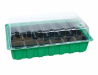 Minipařeniště MINI 18 otvorů zelené 36x22x12cm