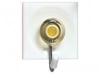 háček samolepící čtvercový 3,7x4,5cm plastový + kov. (3ks) - mix barev