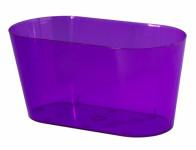 Truhlík VULCANO EXTRA plastový transparentní fialový 27cm