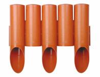 Palisáda plastová terakota 2,3x0,15m 8ks