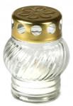 Svíčka sklo bílá - koule 30 g  (230bz1535)