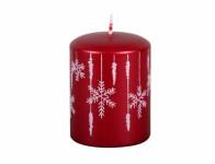 Svíčka vánoční SNOWFLAKE DE LUX d6x8cm