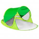 Spokey STRATUS Samorozkládací outdoorový paravan, UV 40, 195x100x85 cm - zelený - VÝPRODEJ