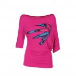 Spokey HAWE, fitness triko, 3/4 rukáv, růžové, vel. U