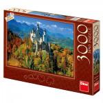 Puzzle 3000 dílků: Neuschwanstein na podzim
