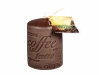 Svíčka COFFEE NÁPIS VÁLEC d7x10cm