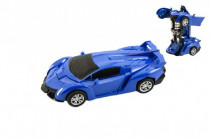 Transformer auto/robot plast 14cm na setrvačník - mix barev