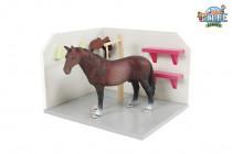 Dřevěný mycí box pro koně 1:24