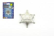 Šerifská hvězda odznak kov 5cm