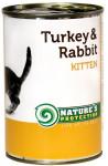 Nature's Protection Cat konz.Kitten krůta/králík 400 g