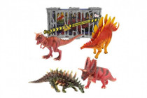 Dinosaurus v kleci plast 4 druhy 19-22cm