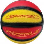 Spokey TRIPPLE míč na košíkovou červený 7
