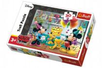 Puzzle Mickey a Minnie slaví narozeniny Disney 27x20cm 30 dílků