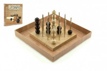 Piškvorky 3D podstavec + kuličky dřevo společenská hra