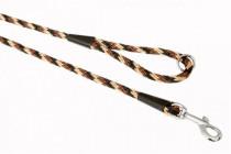 """Vodítko textil lano """"Spirála"""" černo/hnědé B&F 1,00 x 150 cm"""