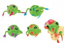 Sliz žába mačkací 9cm - mix barev