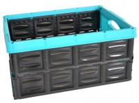 přepravka skládací 53x40x26cm plastová, nosnost 25kg - mix barev