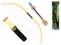 Luk 70 cm se šípy a zbraní na kartě - mix variant či barev
