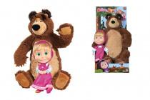 Máša a medvěd Set Míša plyšový 43cm a panenka Máša 23cm