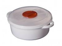 hrnec do mikrovlnné trouby 2l kulatý plastový