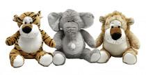Plyšová zvířátka lev, tygr, slon, gepard 53 cm