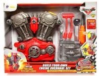 Motor funkční šroubovací + nářadí plast 20ks na baterie se zvukem se světlem
