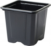 Květináč - kontejner, měkký plast 9x9x9,5(10) cm - 10 ks - VÝPRODEJ