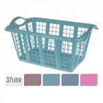 koš na čisté prádlo 60x40x30cm plastový - mix barev