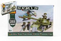 Stavebnice Dromader Vojáci Tank + Vrtulník 22605