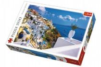Puzzle Ostrov Santorini, Řecko 1500 dílků 85x58cm