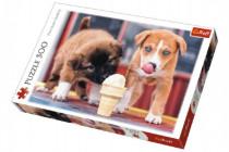 Puzzle Pejsci se zmrzlinou 500 dílků 48x34cm